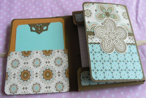 bloc note, atelier stampin'up