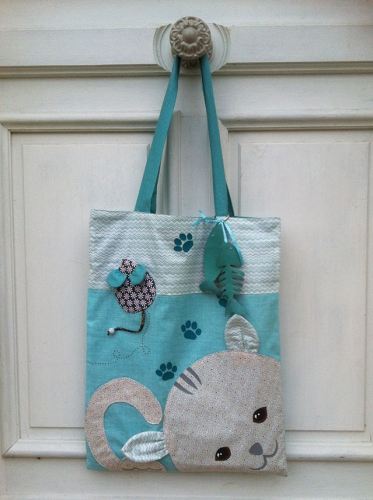 Tuto sac chat, diy sac chat, tote bag chat