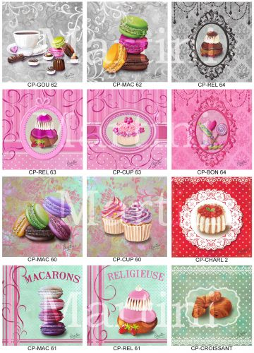 carte macaron, cartes gourmandises, carte gourmande cake's card