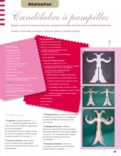 chandelier en cartonnage