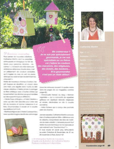 reportage catherine martini passion cartonnage et broderie
