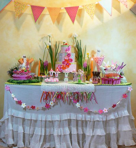 sweet table, table de fete, table de paques