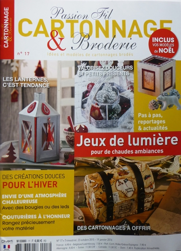 Passion cartonnage et broderie n° 17