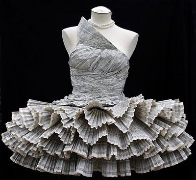 robe en papier, creation en papier