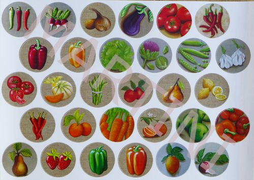 sticker gourmandises; stickers légumes, autocollant gourmand