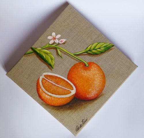 Tableau fruit, tableau orange
